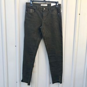 Zara Basic  Denim Mid Rise Skinny Hem Dark Jeans 4